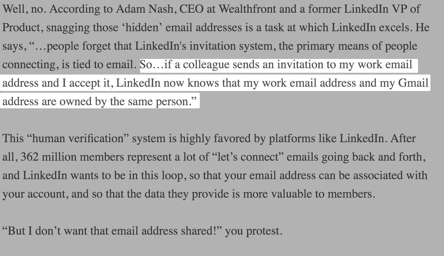 VP LinkedIn Quote